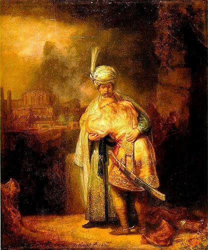 大衛與約拿丹Davids Abschied von Jonathan _林布蘭特Rembrandt Harmensz van Rijn.jpg.jpg