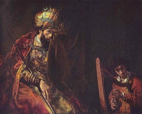 大衛為掃羅王彈琴 David spielt Harfe vor Saul_林布蘭特 Rembrandt Harmensz van Rijn.jpg