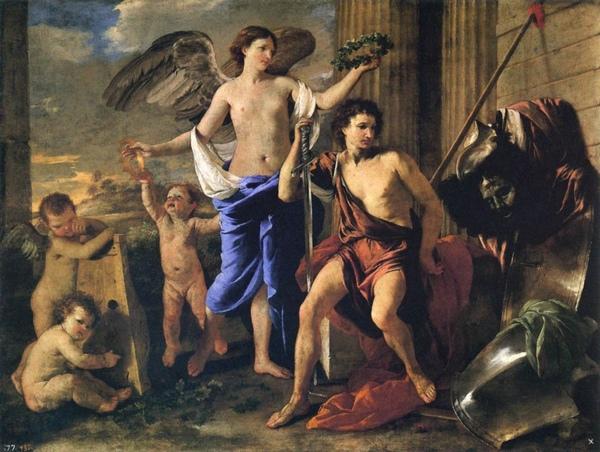戰勝的大衛 Victorious David_尼古拉.普桑 Nicolas Poussin.jpg