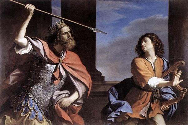 大衛與掃羅王 David and Saul_古厄西諾 Guercino_.jpg