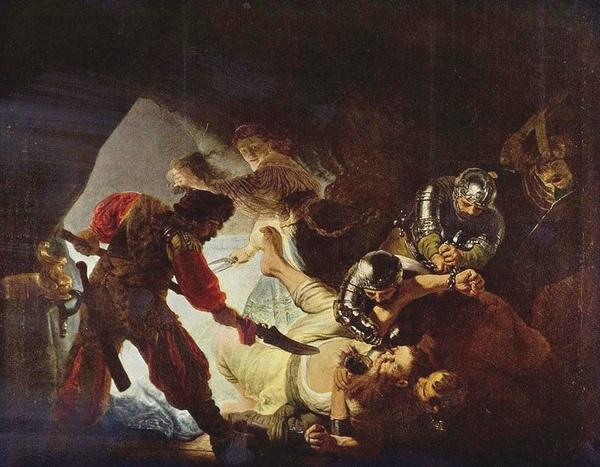 參遜被刺瞎 Die Blendung Simsons_林布蘭特 Rembrandt van Rijn.jpg
