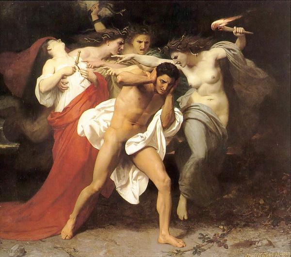 厄里倪厄斯追逐俄瑞斯忒斯The Remorse of Orestes_鮑格雷奧‧阿道夫‧威廉 Adolphe William Bouguereau.jpg