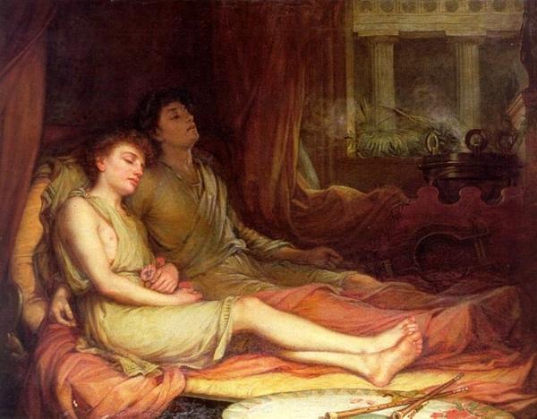 與孿生兄弟一起入睡的許普諾斯sleep and his half-brother death_s_瓦特豪斯‧約翰‧威廉John William Waterhous.jpg