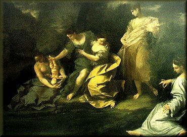 阿基里斯被放入冥河求不朽之身Thetis dipping Achilles in the waters of the Styx_多納托‧克雷帝Donato Creti.jpg