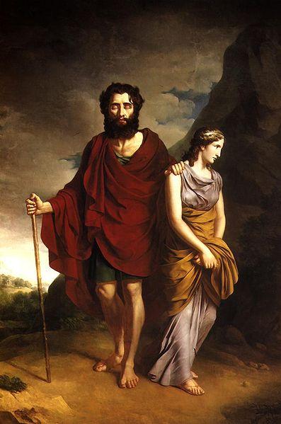 伊底帕斯與安提戈涅Oedipus and Antigone_安東尼 Antoni Brodowski.jpg