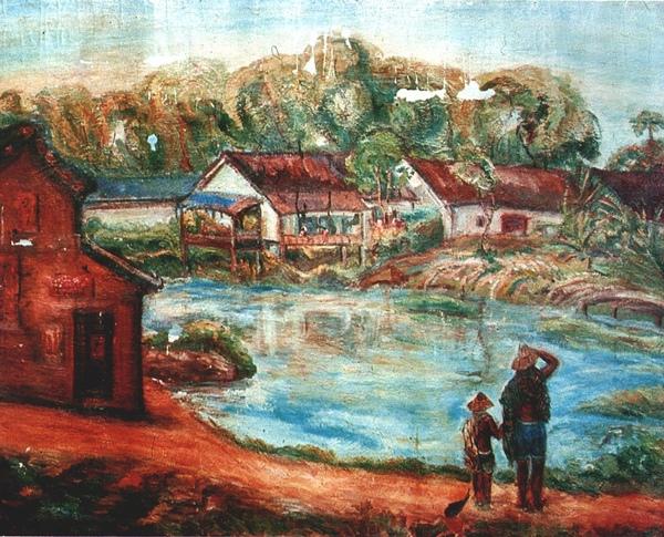 〈池畔〉1940 年_油彩‧畫布,91 x 116.5 公分.jpg