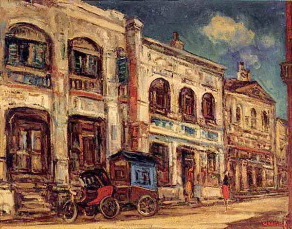 楊三郎〈 迪化街口 〉1946 年_油彩‧畫布,73 x 91 公分.jpg