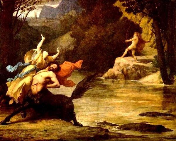 涅索斯海克力斯Nessus (with D黛安妮拉ianeira) and Heracles_ 朱-艾迪布爾迪勞奈 Jules-Elie Delaunay .jpg