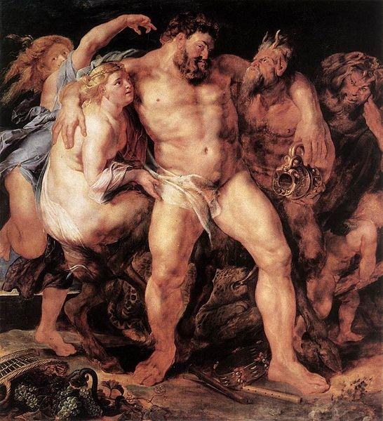 酒醉的海格力斯 The Drunken Hercules_魯本斯 Peter Paul Rubens.jpg