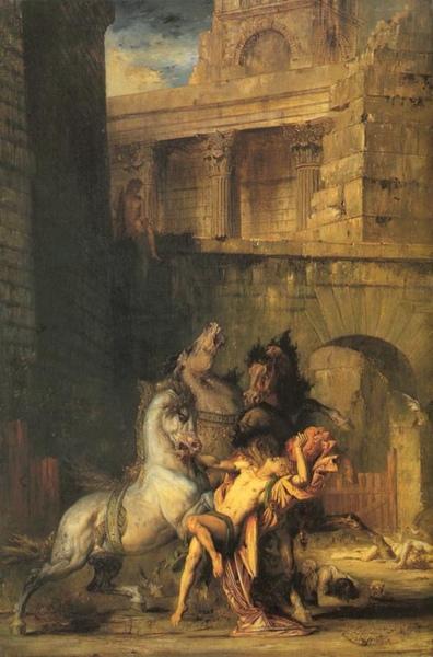 被群馬吞噬的狄俄墨得斯Diomedes Devoured by Horses_摩洛 Gustave Moreau.jpg