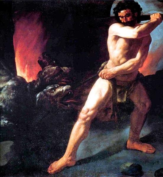 活捉刻耳柏洛斯Heracles and Cerberus_蘇巴朗Francisco de Zurbarán.jpg