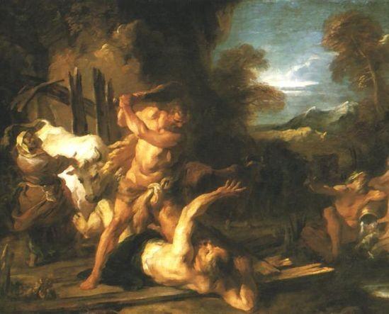 海格力斯和三眼巨人卡庫斯Hercules and Cacus 弗朗索瓦‧勒莫因Francois Lemoyne.jpg