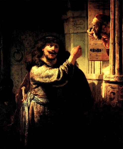 參遜恐嚇岳父 Samson Accusing His Father-in-Law_林布蘭 Rembrandt van Rijn.jpg