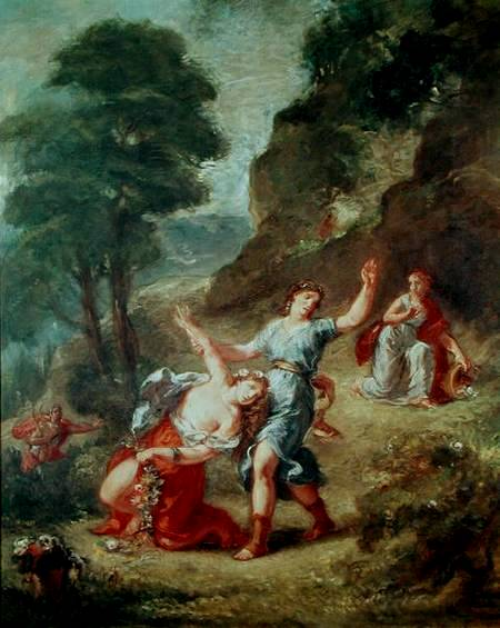 春 -奧菲斯與尤莉迪絲The Spring - Eurydice Bitten by a Serpent while Picking Flowers (The Death of Eurydice)_德拉克洛瓦 Eugene Delacroix .jpg