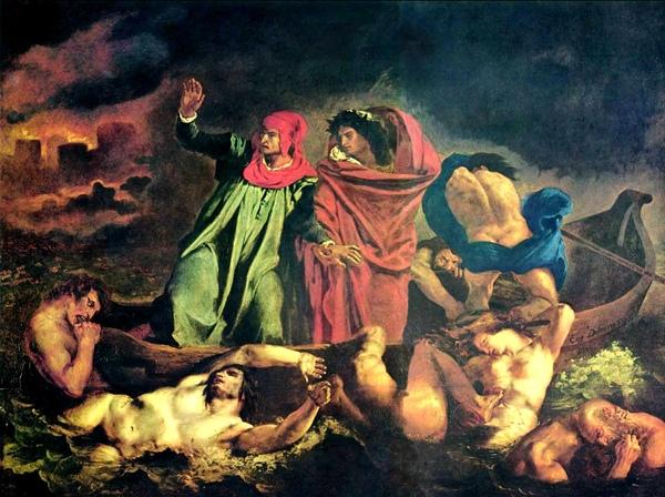 但丁和維吉爾共渡冥河 The Barque of Dante_德拉克洛瓦 Eugene Delacroix.jpg