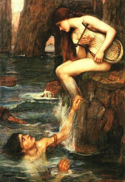 塞壬The Siren_瓦特豪斯‧約翰‧威廉John William Waterhouse.jpg