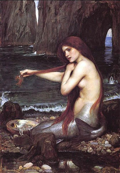 美人魚Mermaid_瓦特豪斯‧約翰‧威廉John William Waterhouse.jpg