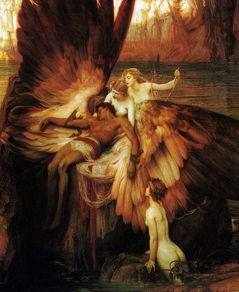 伊卡洛斯的輓歌Lament for Icarus_赫伯特・詹姆斯・德雷珀 Herbert James Draper .jpg