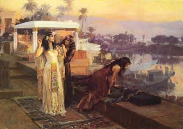 克麗奧佩托拉在菲萊神殿Cleopatra on the Terraces of Philae弗雷德里克・阿瑟・布里奇曼 Frederick Arthur Bridgman.jpg