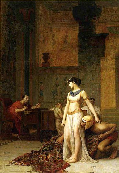 克麗奧佩托拉與凱撒Cleopatra and Caesar_讓・萊昂・熱羅姆 Jean-Léon Gérôme .jpg