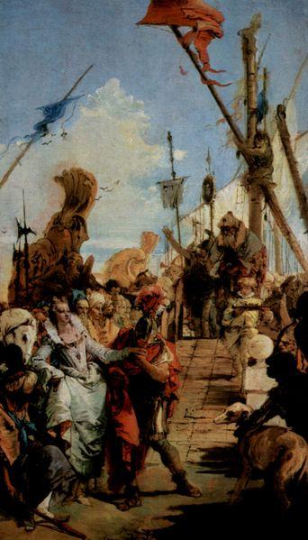 安東尼與克麗奧佩托拉會面 Treffen von Marc Antonius und Kleopatra_提埃波羅Giovanni Battista Tiepolo.jpg