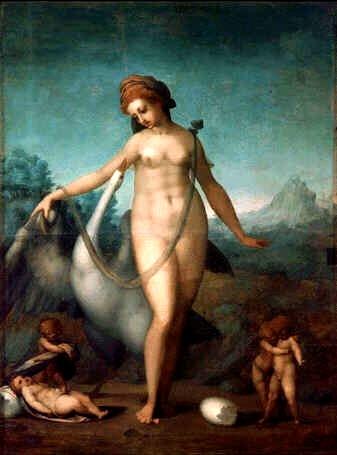 麗達與天鵝Leda and the Swan_蓬托爾莫.雅格布Jacopo Pontormo.jpg