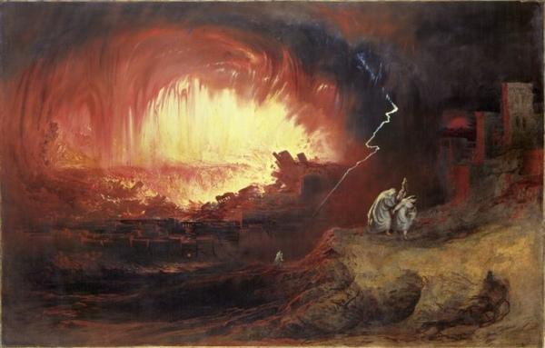所多瑪與蛾摩拉的毀滅Sodom and Gomorrh_約翰・馬丁John Martin .jpg