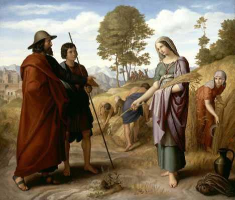 路得在博亞茲的麥田 Ruth in Boaz's Field_卡洛斯斐爾德Julius Schnorr von Carolsfeld  .jpg