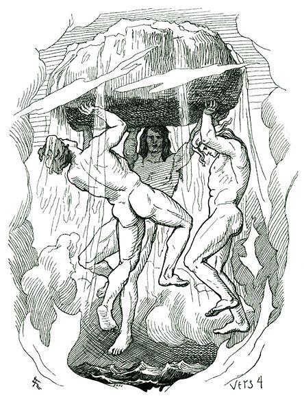 奧丁兄弟創造世界Odin and his brothers create the world_洛倫茲 Lorenz Frølich.jpg
