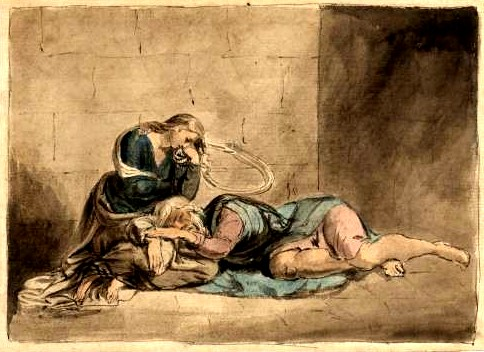 監獄中的李爾和柯蒂麗亞Lear and Cordelia in Prison_威廉‧布雷克William Blakee.jpg
