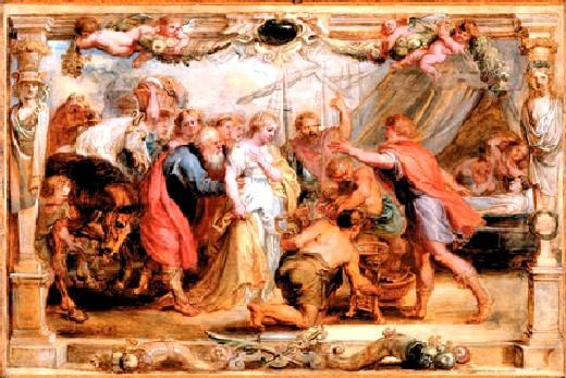 布魯塞依斯還給阿基里斯 Briseis Given Back to Achilles__魯本斯 Peter Paul Rubens.jpg