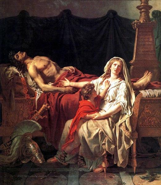 安德洛瑪克哀悼赫克托爾Andromache Mourning Hector __大衛‧雅克‧路易Jacques-Louis David.jpg