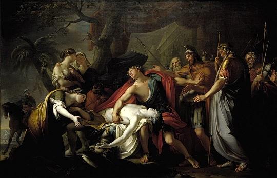 哀嘆帕特羅克洛斯死去的阿基里斯Achilles Lamenting the Death of Patroclus_漢彌頓Gavin Hamilton.jpg