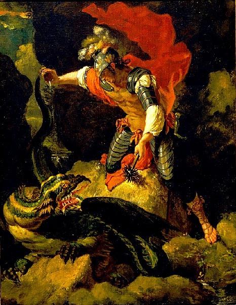 傑生降龍 Jason Poisoning the Dragon_羅莎 Salvator Rosa.jpg