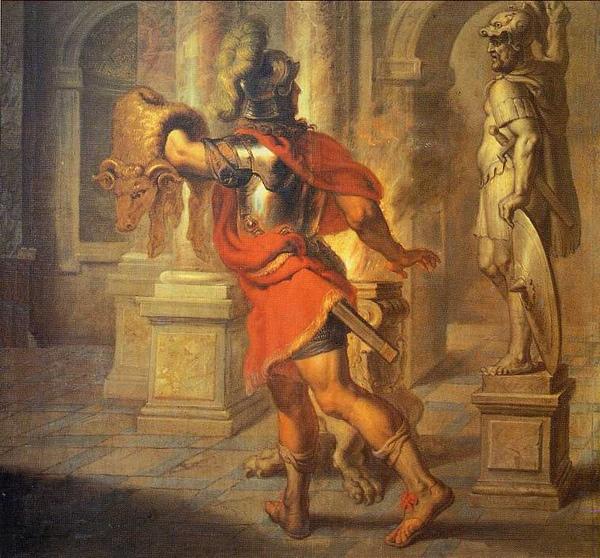 傑生取走金羊毛Jason carrying the Golden Fleece_ 古艾林努斯Erasmus Quellinus. .jpg