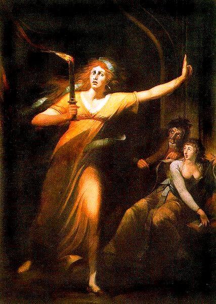 夢遊的馬克白夫人The sleepwalking Lady Macbeth _約翰 · 亨利希 · 菲斯利 Johann Heinrich Füssli.JPG