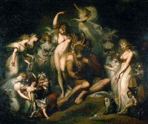 仲夏夜之夢Midsummer Night's Dream _ 約翰 · 亨利希 · 菲斯利 Johann Heinrich Füssli..jpg