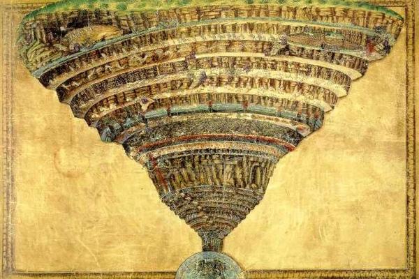但丁的地獄圖Chart Of Dantes Hell_ 波提切利 Botticelli.jpg