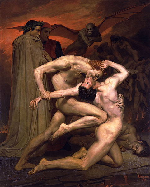 地獄中的但丁和維吉爾Dante And Virgil In Hell _鮑格雷奧‧阿道夫‧威廉William-Adolphe Bouguereau .jpg