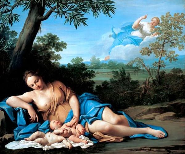 阿波羅和黛安娜的誕生 Die Geburt des Apollo und der Diana_法蘭契斯基尼Franceschini, Marcantonio   .jpg