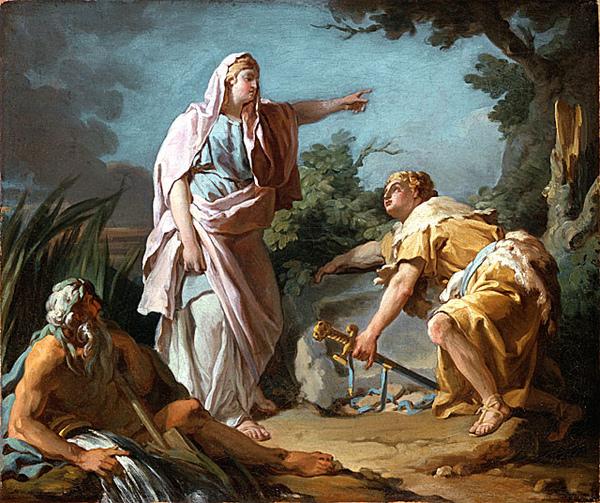 忒修斯發現父親的武器Aethra Showing her Son Theseus the Place Where his father had Hidden his Arms_尼可拉斯・布瑞內特Nicolas Guy Brenet.jpg
