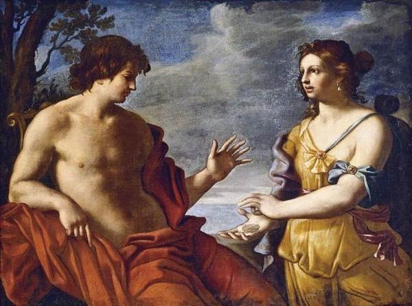 阿波羅和庫米女巫Apollo and the Cumaean Sibyl_Giovanni Domenico Cerrini.jpg