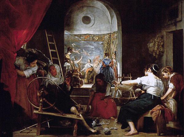 阿瑞荷妮的寓言The Fable of Arachne_維拉斯奎茲 Diego Velázquez .JPG
