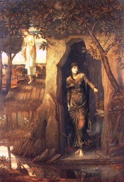 喀耳刻與絲庫拉Circe and Scylla, 1866 _約翰‧麥爾惠師‧斯塔威克John Melhuish Strudwick.jpg