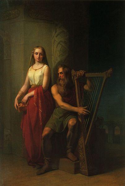 布拉基與妻子伊登Idunn and Bragi _尼爾斯約翰•奧爾森Nils Johan Olsson Blommér .jpg