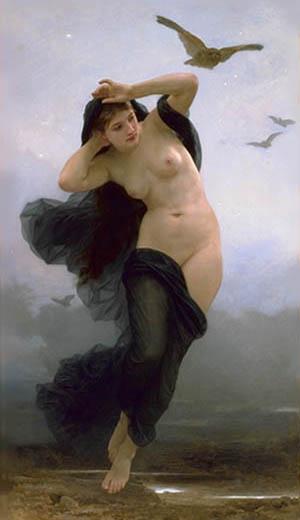 黑夜女神倪 克 斯La Nuit _鮑格雷奧William-Adolphe Bouguereau .jpg