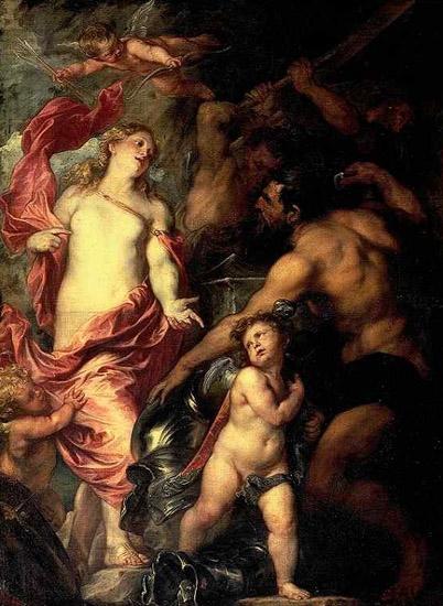 維納斯請求伏爾甘為埃涅阿斯鍛造武器 Venus asking Vulcan for Arms for Aeneas_凡‧代克Antony van Dyck.jpg