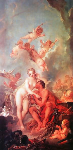 維納斯與伏爾甘The Visit of Venus to Vulcan_布雪Francois Boucher .jpg
