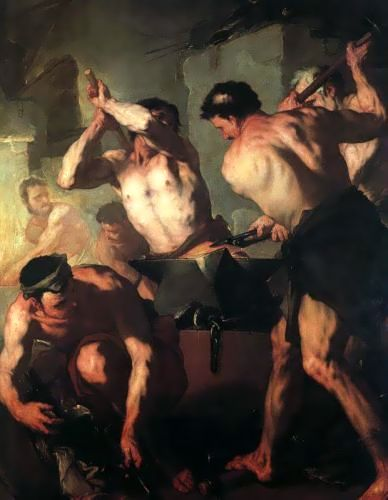 伏爾甘在冶金The Forge Of Vulcan_喬達諾Luca Giordano .jpg