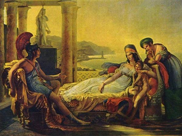 埃涅阿斯告訴狄兜特洛伊城的不幸Aeneas tells Dido the misfortunes of the Trojan city_介朗 Baron Pierre-Narcisse Guérin.JPG